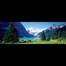 Lake Louise, Canadian Rockies: Panoramic Puzzle -