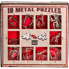10 Metal Puzzle Set - Red -