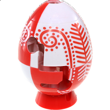 Smart Egg Labyrinth Puzzle - Easter Red -