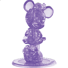 3D Crystal Puzzle - Minnie Mouse 2 (Purple) -
