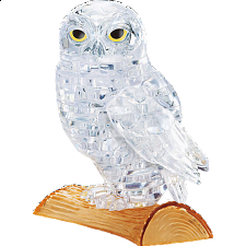 3D Crystal Puzzle - Owl (White) -