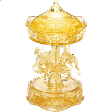 3D Crystal Puzzle Deluxe - Carousel (Gold) -