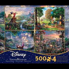 Thomas Kinkade: Disney 4 in 1 Jigsaw Puzzle Collection #2 -