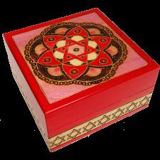 Star of David & Flower Secret Box - Red -