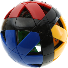 12-Axis Puzzle Ball V1 - 4 color with black edge -