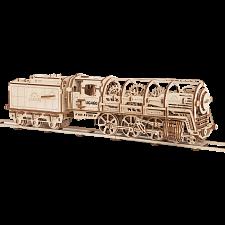 Mechanical Model - Steam Locomotive with Tender -
