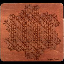Wooden Fractal Tray Puzzle - Gosper Curve -