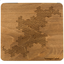 Wooden Fractal Tray Puzzle - Terdragon Curve -