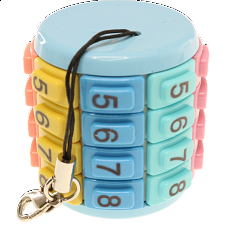 Eni Puzzle - Key Chain Numbers Pastel -