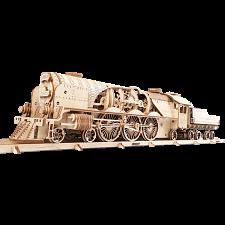 Mechanical Model - V-Express Steam Train with Tender -