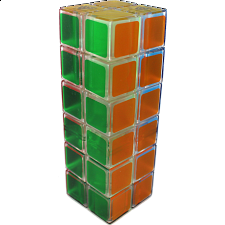 1688Cube 2x2x6 II Cuboid (center-shifted) - Ice Clear Body -