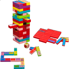 Tumbling Tower 3 in 1 Game -