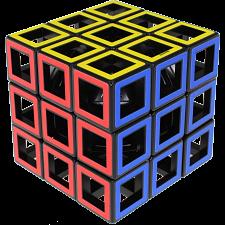 Hollow 3x3x3 Cube - Black Body -