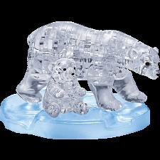 3D Crystal Puzzle - Polar Bear & Baby -