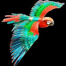Metal Earth: Iconx 3D Metal Model Kit - Parrot (Jubilee Macaw) -