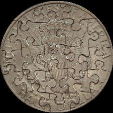21 Piece Half Dollar - Coin Jigsaw Puzzle -