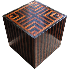 Silver City Luxe Kit - Wooden DIY Puzzle Box (Black/Brown) -
