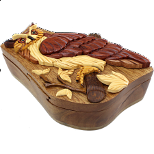 Owl on Branch - 3D Puzzle Box -