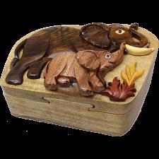 Elephant & Baby - 3D Puzzle Box -