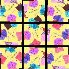 Scramble Squares - Cupcakes -