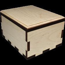 Hurricane Puzzle Box - Plain Maple -