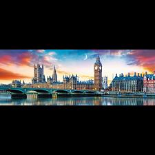 Panorama: Big Ben and Palace of Westminster, London -