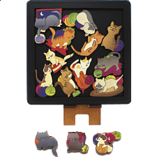 Cats - Wooden Packing Puzzle -