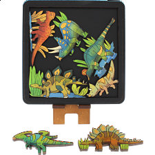 Herbivore Dinosaurs - Wooden Packing Puzzle -