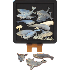 Whales - Wooden Packing Puzzle -