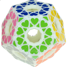 Void Star Wheel Dodecahedron - White Body (3D Printed) -