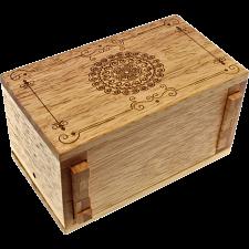 Secret Lock Box (Rubberwood) - Premium with Mandala Artwork -