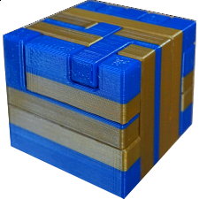Impossible Cube 2 (Blue and Gold) -