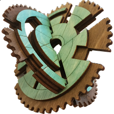 Gearly: 3D Gear Labyrinth Puzzle -