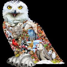 Snowy Owl - Shaped Jigsaw Puzzle -