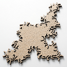 Maze Infinity Wooden Jigsaw Puzzle - Natural -