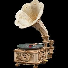 ROKR Wooden Mechanical Gears - Classical Gramophone -