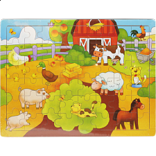 Little Moppet: Farm Wooden Tray Puzzle -