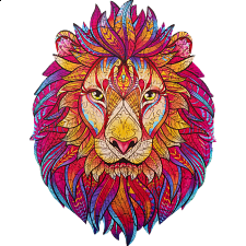 Mysterious Lion - Animal Shaped Wooden Jigsaw Puzzle -