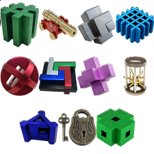 Group Special - a set of 11 Puzzle Master Metal Puzzles -