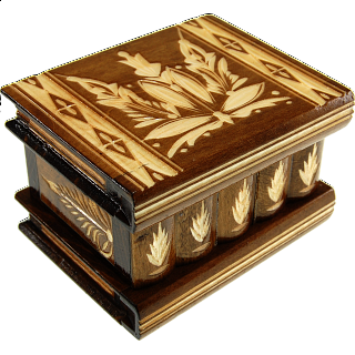 Romanian Puzzle Box - Medium Brown