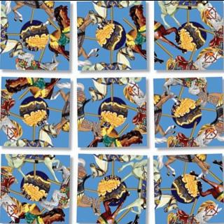 Scramble Squares - Carousel Ponies