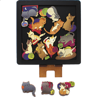 Cats - Wooden Packing Puzzle