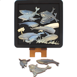 Whales - Wooden Packing Puzzle