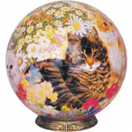 Cats in Flowers: 9 inch