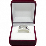 4 Band - Sterling Silver Puzzle Ring - X Design
