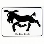 The Pony Puzzle - Postcard