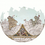Antique Nautical Map: 3 inch