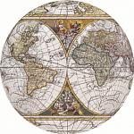 Antique Nautical Map: 3 inch