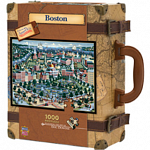 Collector Suitcase Jigsaw - Boston