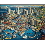 Collector Suitcase Jigsaw - San Francisco